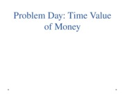 Problem Day Time Value of Money Blackboard