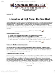 H102 Lecture 19_ The Great Depression and the New Deal