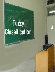 Session 5 fuzzy classification