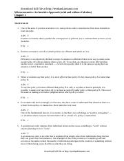 Test Bank for Microeconomics An Intuitive Approach with Calculus .doc