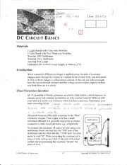DC Circut Basics Lab 5 Physics 152L