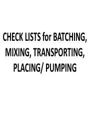 E)  Checklist  Booklet 76 R2  Batching, Mixing, Transporting _ Placing III