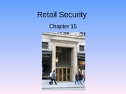 Ch 15 - Retail Security