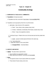 Topic14a-CommunityEcology