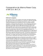 comparación con Alterra power corp