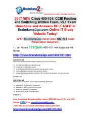 (2017-May)Braindump2go New 400-101 Dumps PDF and 400-101  Dumps VCE 328Q&As Free Share(281-290).pdf