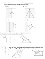 Dilations Ws Doc Worksheet