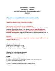 Syllabus, Procedure & Sample Questionnaire for Exam 1-Section 003 (1)