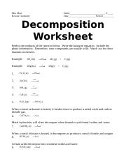 decomposition worksheet.doc