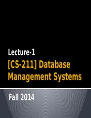 [Lecture-1] Introduction to Databases-1