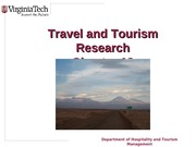 Chapter 18 Travel and Tourism Research