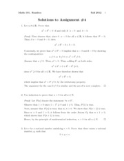 Math101Fall2012Assignment4Solutions