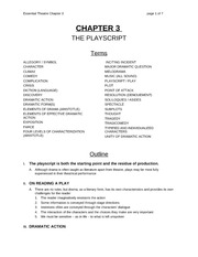 Chapter 3 Lecture on the Play