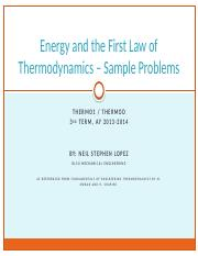 4_Energy and the First Law of Thermodynamics - Sample Problems-1.pptx