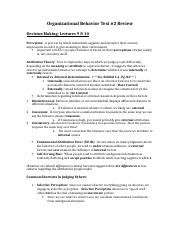 Organizational Behavior Test 2 (1)