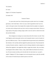 Comp I- Essay II (Immigration)