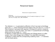 reciprocal space notes