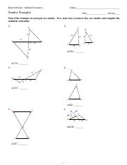 Similar Figures Worksheet Answer Key: triangle congruency wkt42 (1) pdf   1D  1 Geometry Name Triangle    ,