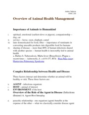Importance of Animals to Humankind Notes
