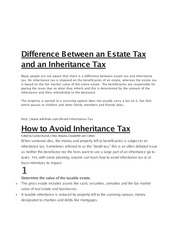 Lect 20 - B- Related to Chapter 20 -Estate Tax vs Inheritance Tax
