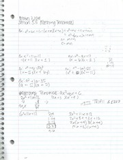 Intermediate Algebra Section5.5 Factoring Trinomials