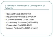 History of Education Summary
