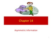 Chapter 14 - Asymmetric Information
