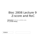 lect 09 Z-score and RoC