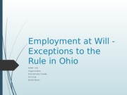 Employment at Will - Ohio