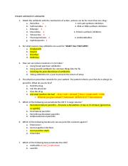 PHARM ANTIBIOTICS ANSWERS.docx