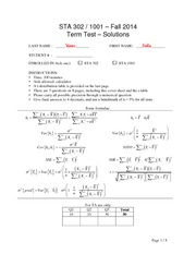 Test1 2014 F Solution