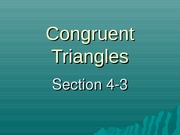 Exploring Congruent Triangles