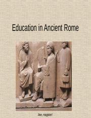 Education in Ancient Rome.ppt