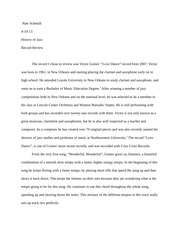 Victor Goines Record Review Essay