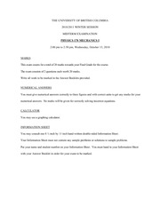 Oct 2010 Midterm Exam Questions and Answers