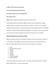 Litigation Hold Notice - Deborah Glass IS3350 Professor Thrope ...