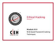 CEH v5 Module 13 Web-based Password Cracking Techniques