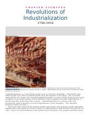 Chapter 18 _ Revolutions of Industrialization.docx