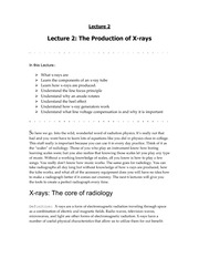 RADD 2501 Animal Insides Lecture - The Production of X-Rays
