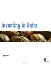 Exercise Natra  Analysis Corporate Valuation Sept 2015.pdf