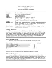ACCT 304 Syllabus - Fall 2015