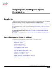 firepower-roadmap - Navigating the Cisco Firepower System