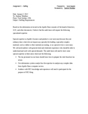 1 Pages Staffing Memo