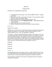 BUSI 353- Assignment 2- SOLUTIONS