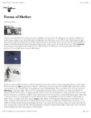 "Forms of Shelter â€"" North American Indians"