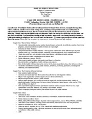 EXAM ONE REVIEW SHEET (CHAPTERS 1-5, 12, Fall2009)