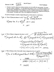 Stat 447 Exam 1 Solutions