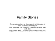 Family stories