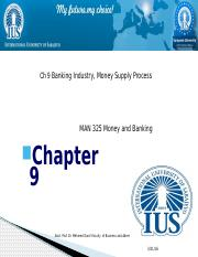 CHAPTER 9  Banking Industry, Money Supply Process pptx.pptx
