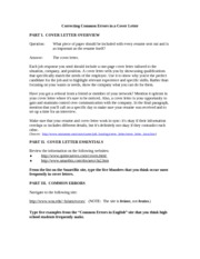 Cover Letter Quiz
